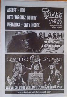 Tachas Fanzine Nº 30 - Slash - Whitesnake - Metallica -