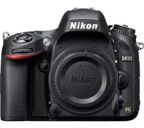 Câmera Profissional Dslr Nikon D610 Corpo C/ Nota Fiscal