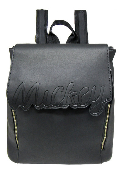 Bolsa Mochila Mickey Mouse Signature Relevo Oficial Disney