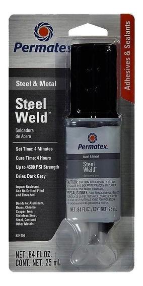 Cola Epoxi Titanium Aço Alumínio Bloco Motor Permatex 25 Ml