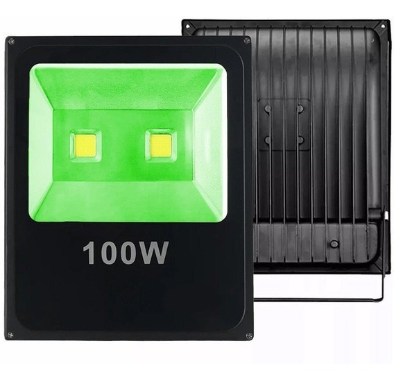 Holofote Refletor Led 100w Cob Bivolt Ip66 Jardim Fachada