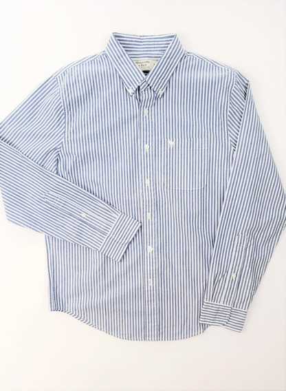 Abercrombie & Fitch 100% Original Long Sleeve Striped Shirt