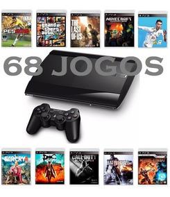 Ps3 Playstation 3 Super Slim - 68 Jogos - 12x Sem Juros