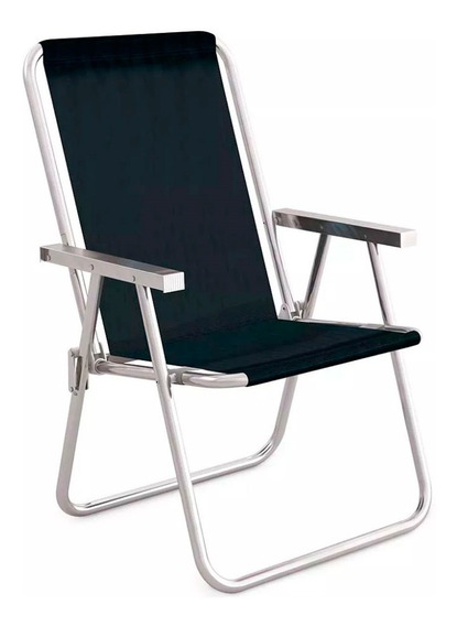 Cadeira Em Alúmino Alto Conforto - Mor Sannet - Preta