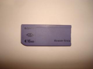 Tarjeta Memoria Sony Memory Stick 16 Mb
