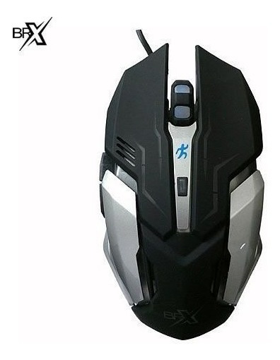 Mouse Gamer Brx-803 Luminoso 6botões Led Notebook Pc Preto