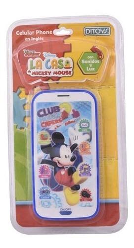 Celular 3d Con Luz Y Sonido Mickey (1386)
