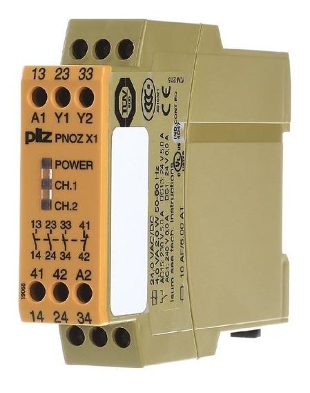 774300 Pilz Relevador Seguridad Pnoz X1 24vac/dc 3n/o 1n/c
