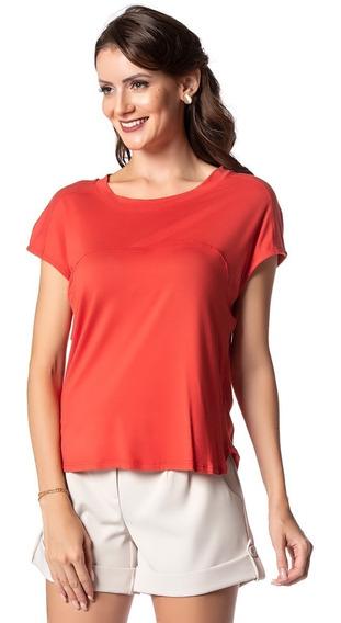 Blusa Feminina Camiseta Moderna Básica Manguinha Cores 11511