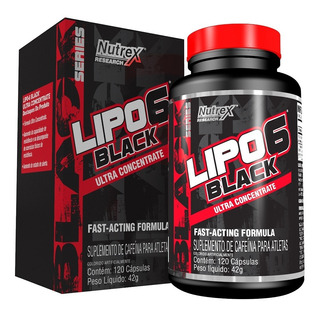 Lipo 6 Black Ultra Concentrado 120 Capsulas Seca Tudo