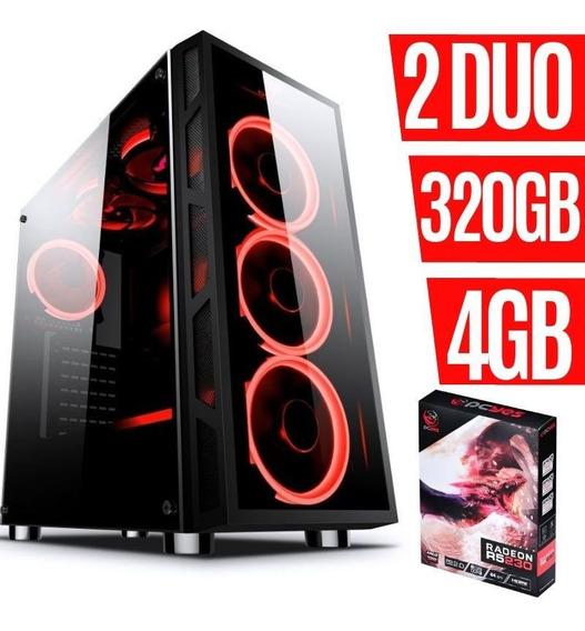 Pc Gamer Core 2 Duo 4gb Hd320 Placa De Vídeo 2gb Ta Barato