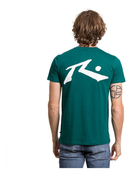 Remera Hombre Rusty Competition Verde