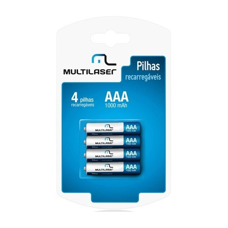 Pilha Reccaregavel Multilaser Aaamah Cb050