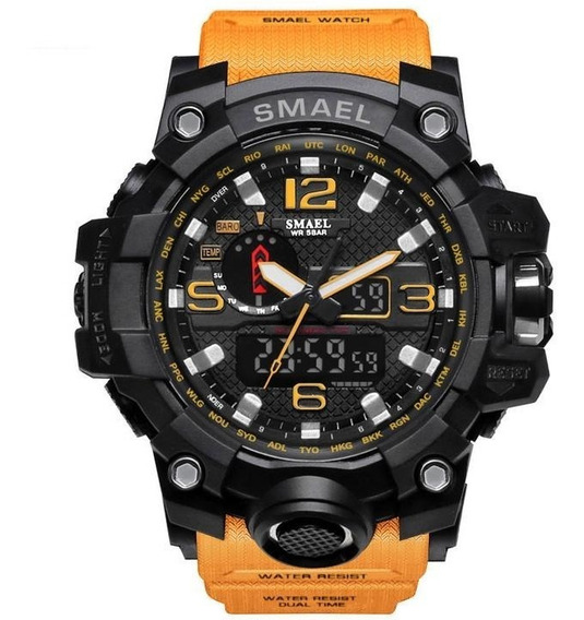 Relógio Smael Wr1545 S-shock Laranja