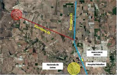 Terreno Con Bodega En Renta En Pabellon De Hidalgo, Aguascalientes