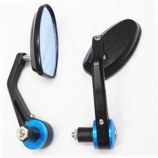 Dlll Azul Motocicleta Flexible Vista Trasera Espejo Retrovis