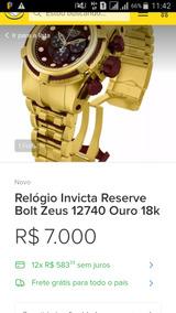 Relógio Invicta Reserve Bolt Zeus 12740 Ouro 18k