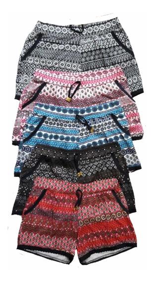 Shorts Em Malha Com 2 Bolso Estampada P M G Gg Xg