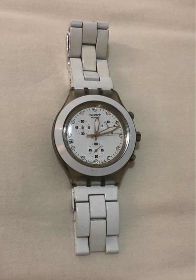 Relógio Swatch (full Blooded White) Branco Original