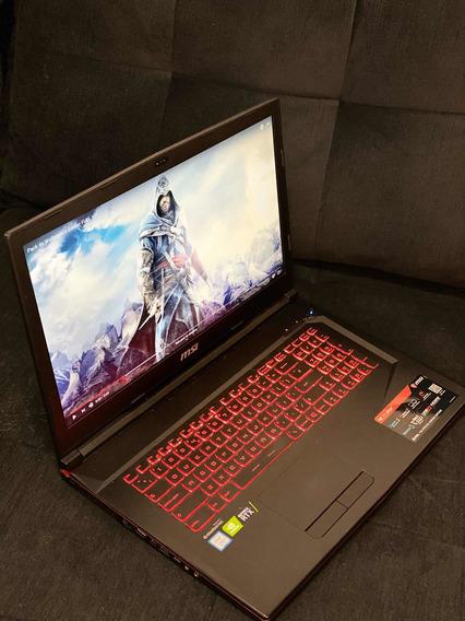 Notebook Gamer Msi I7 2060 32gb Ram Tela 17.3 8th Ssd M2