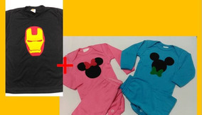 1 Camiseta + 2 Body Personalizados