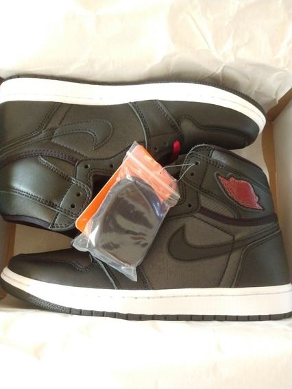 Tênis Nike Air Jordan 1 Black Satin 39, Original, Novo