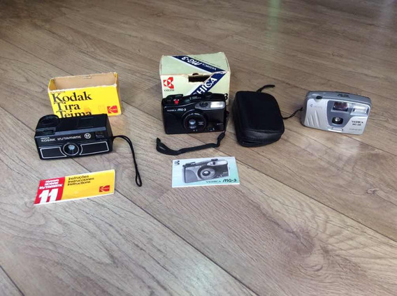 Lote Câmeras Fotográficas Kodak Yashica