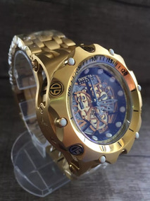 Relógio Masculiono T3 Invicta Venom Hybrid Skeleton Dourado