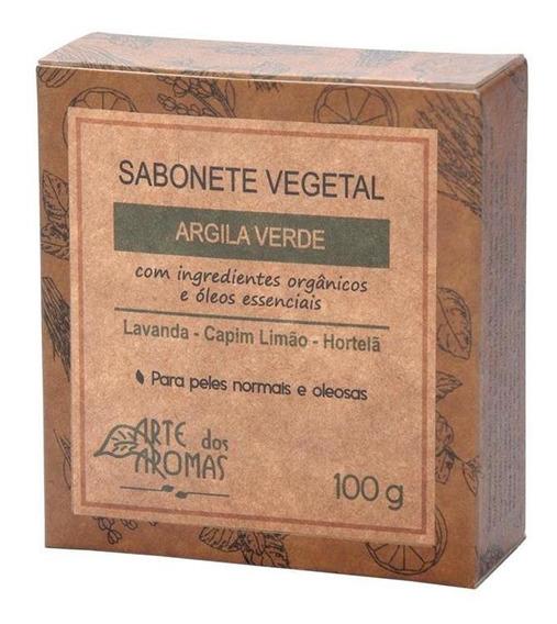 Sabonete Vegetal Barra Argila Verde - Natural 100g