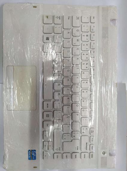Teclado Com Moldura Branca Samsung Np270