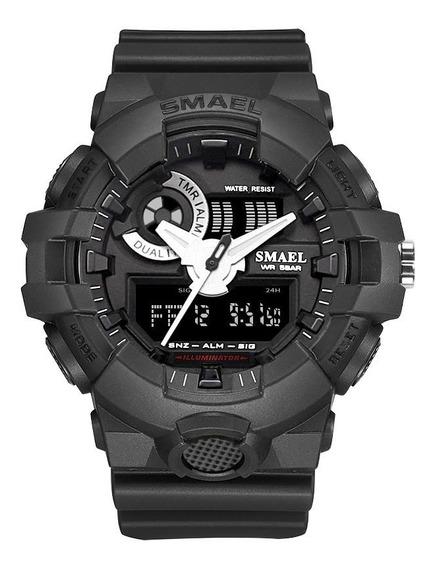 Relógio Masculino Smael Esporte Corrida Militar Cronômetro