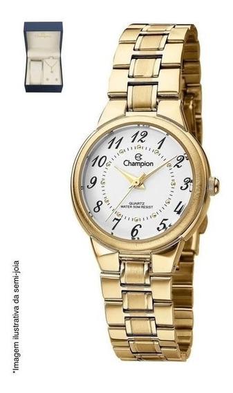 Relógio Champion Analógico Ch26882c Feminino + Semijoia
