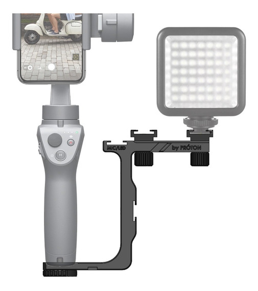 Acessório Para Dji Osmo Mobile 2 Suporte Led Microfone