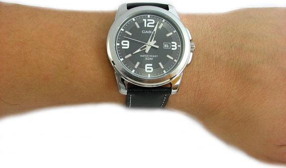 Relógio Casio Mtp 1314 Pulseira Em Couro 100% Original