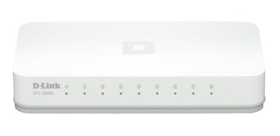 Hub Switch 8 Portas D-link Des-1008c 10/100mbps Versão A1 Nf