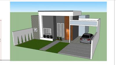 Projeto De Casa Residencial 103 Metros Quadrados