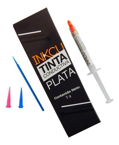Imagen 1 de 4 de Tinta Conductiva De Plata Inkcu 3 G + Accesorios