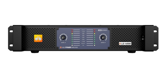 Amplificador Db Series Ld 4000 Bivolt 4000w Rms 2 Canais Nfe