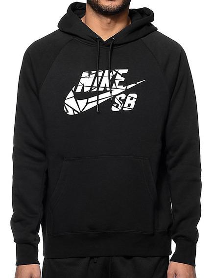 Buzo Nike Sb Icon Hoodie Griptape Negro Original Varón Mujer