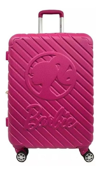 Mala Pequena De Bordo Barbie Pink Abs 4 Rodas 360º - 10172