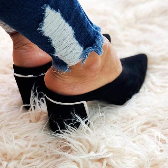 Zuecos Suecos Zapato Stiletto Gamuzados