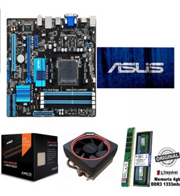 Kit Fx 8350 4.2ghz 8-core Core + Memoria 4gb + Placa Am3+