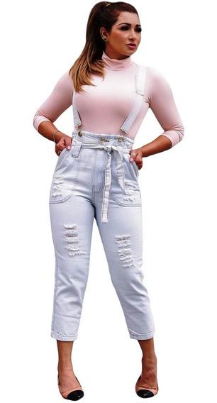 Jardineira Calça Jeans Macacão Moda Blogueira Influencer Ins