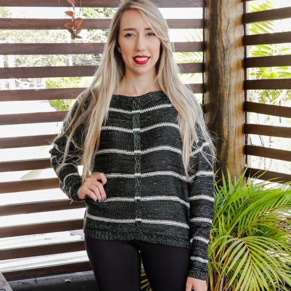 Blusa De Frio Feminina Outono Inverno Fashion M Preta