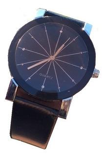 Reloj Quartz 2.0 Hombre Malla Cuero Negro