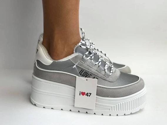Zapatillas Plataforma Mujer 47 Street Glow