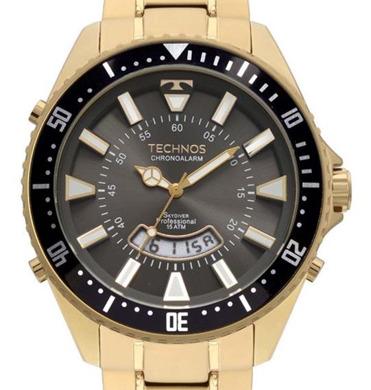 Relógio Technos Performance Skydive Dourado Fosco