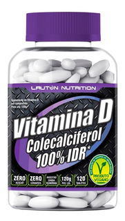 Vitamina D3 - Colecalciferol - 120 Tabs - 200 Ui - Lauton
