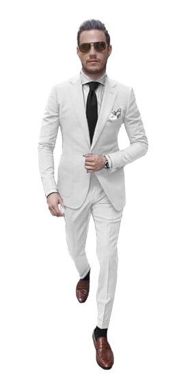 Trajes Hombre Saco Slim Fit Con Chupin Camisa Zapato Cinto