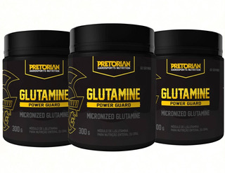 Glutamina Power Guard Pretorian 3 X Unidades 300 Gr